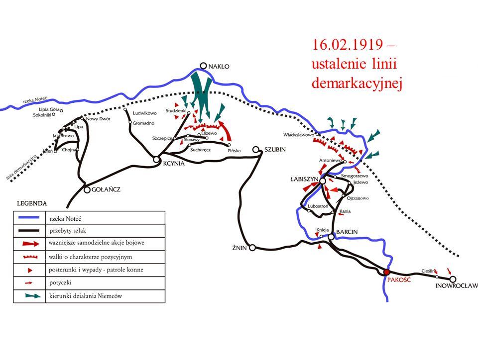 . 16.02.1919 – ustalenie linii demarkacyjnej