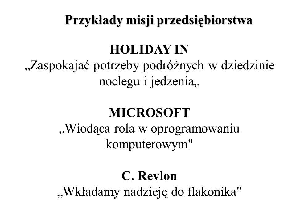 Przykłady misji przedsiębiorstwa