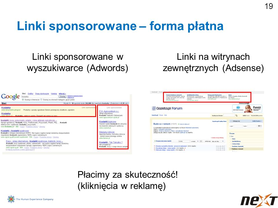 Linki sponsorowane – forma płatna