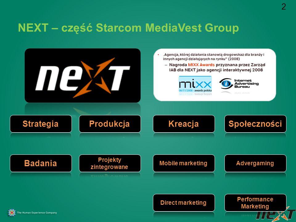 NEXT – część Starcom MediaVest Group