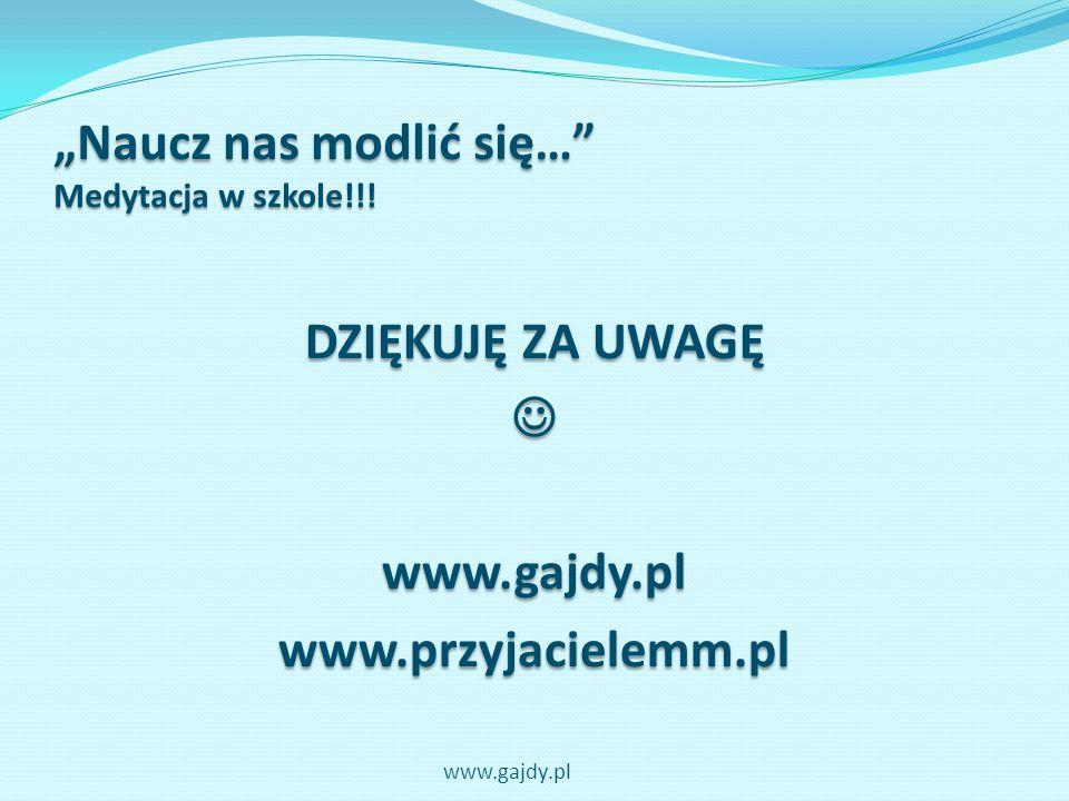 """""""Naucz nas modlić się… Medytacja w szkole!!!"""