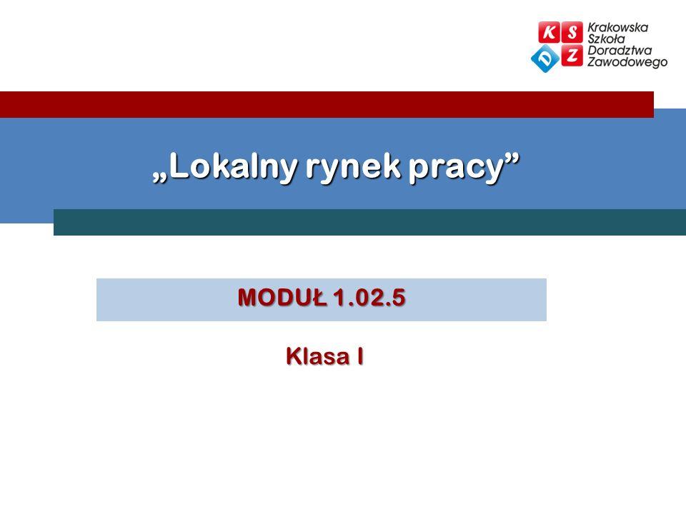 """""""Lokalny rynek pracy MODUŁ 1.02.5 Klasa I"""