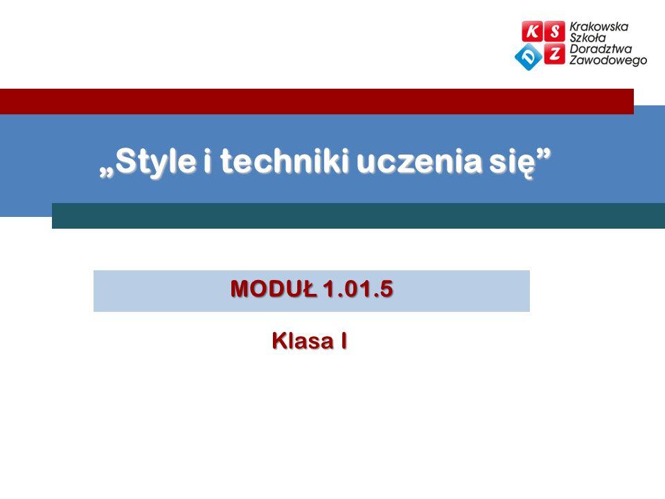 """""""Style i techniki uczenia się"""