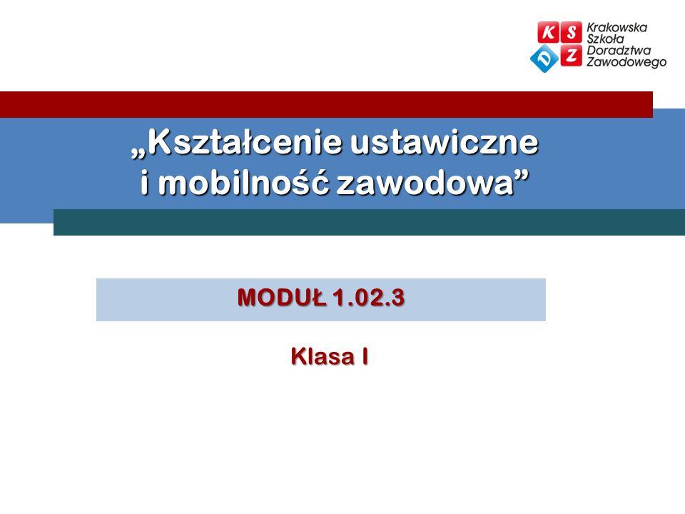 """""""Kształcenie ustawiczne i mobilność zawodowa"""
