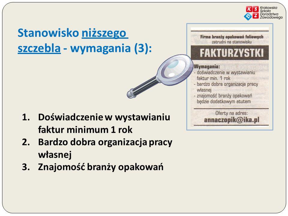 szczebla - wymagania (3):