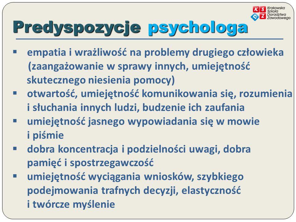 Predyspozycje psychologa