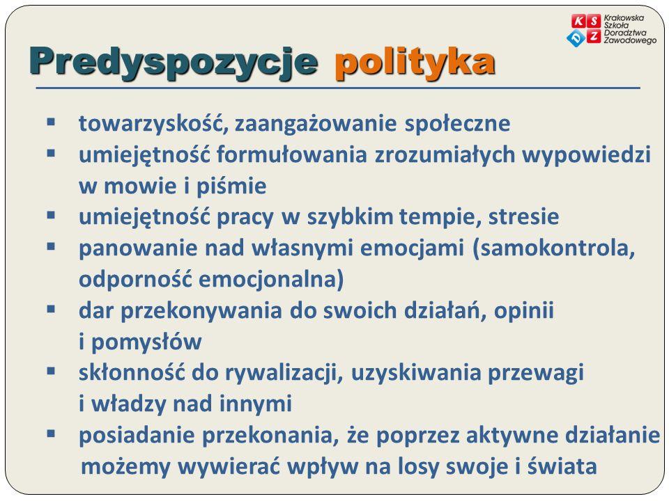 Predyspozycje polityka