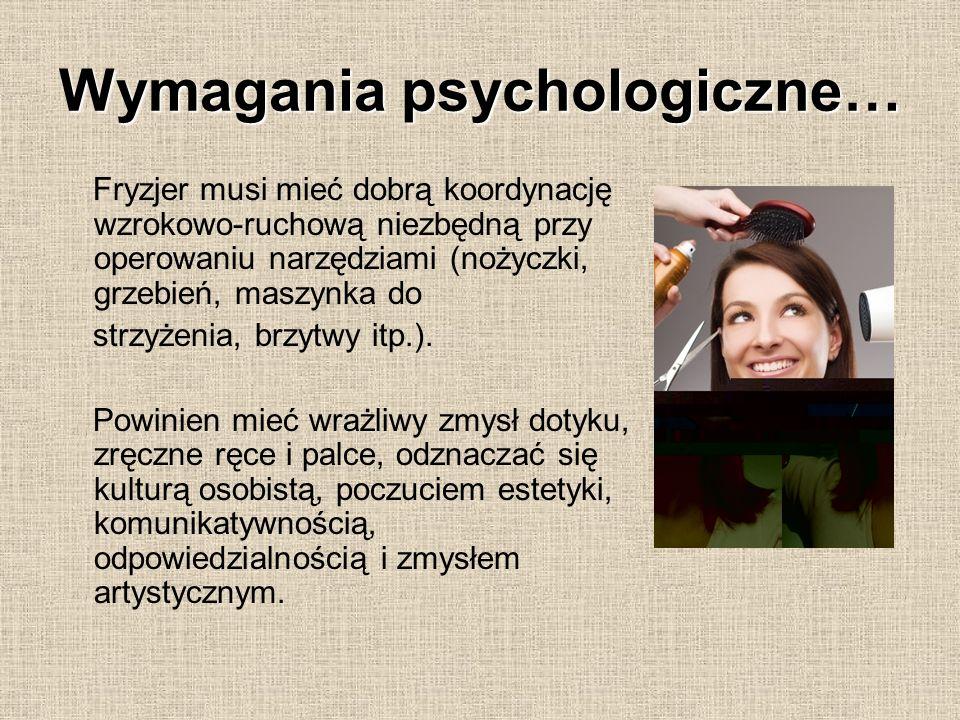Wymagania psychologiczne…