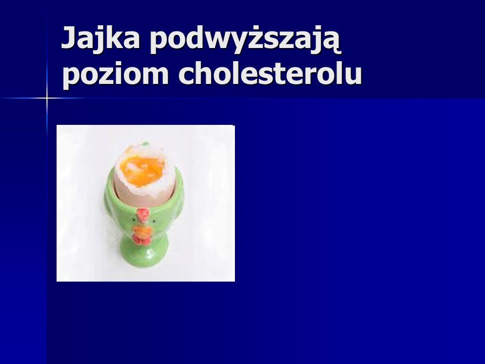 Jajka podwyższają poziom cholesterolu