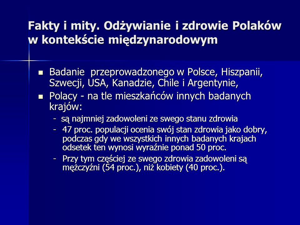 Fakty i mity. Odżywianie i zdrowie Polaków w kontekście międzynarodowym