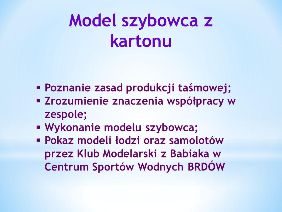 Model szybowca z kartonu