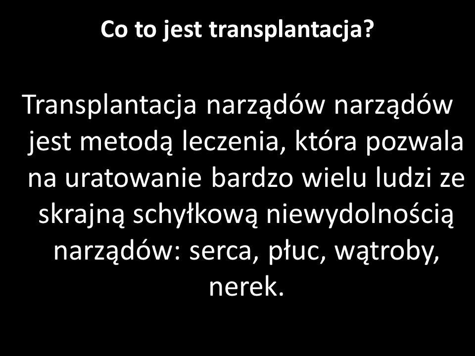 Co to jest transplantacja