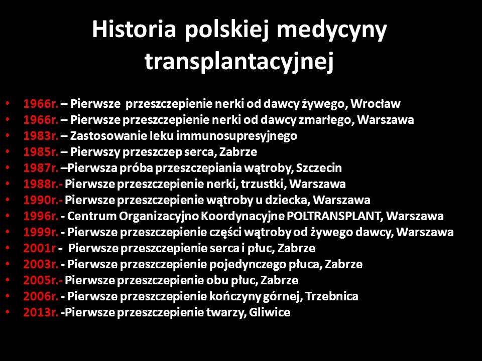 Historia polskiej medycyny transplantacyjnej