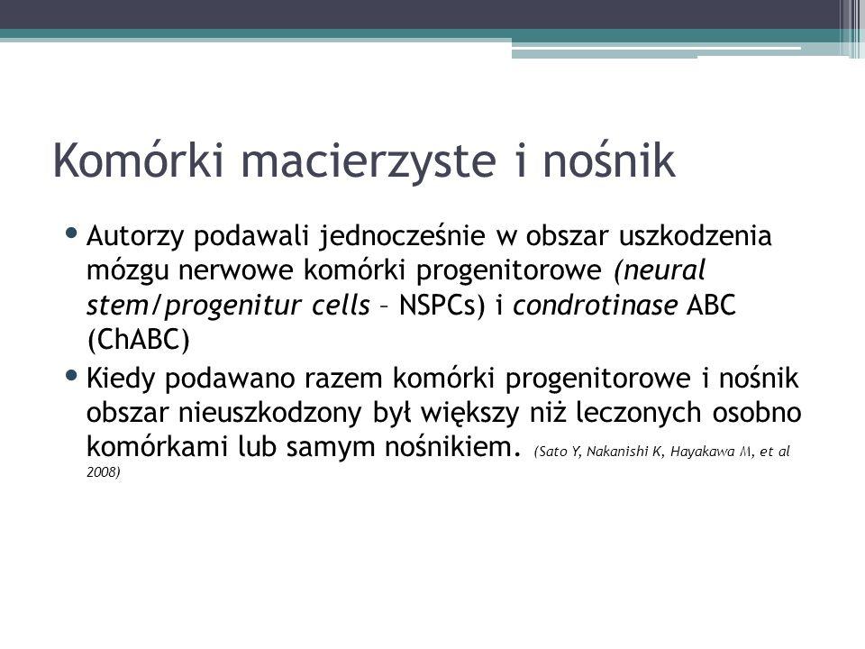 Komórki macierzyste i nośnik