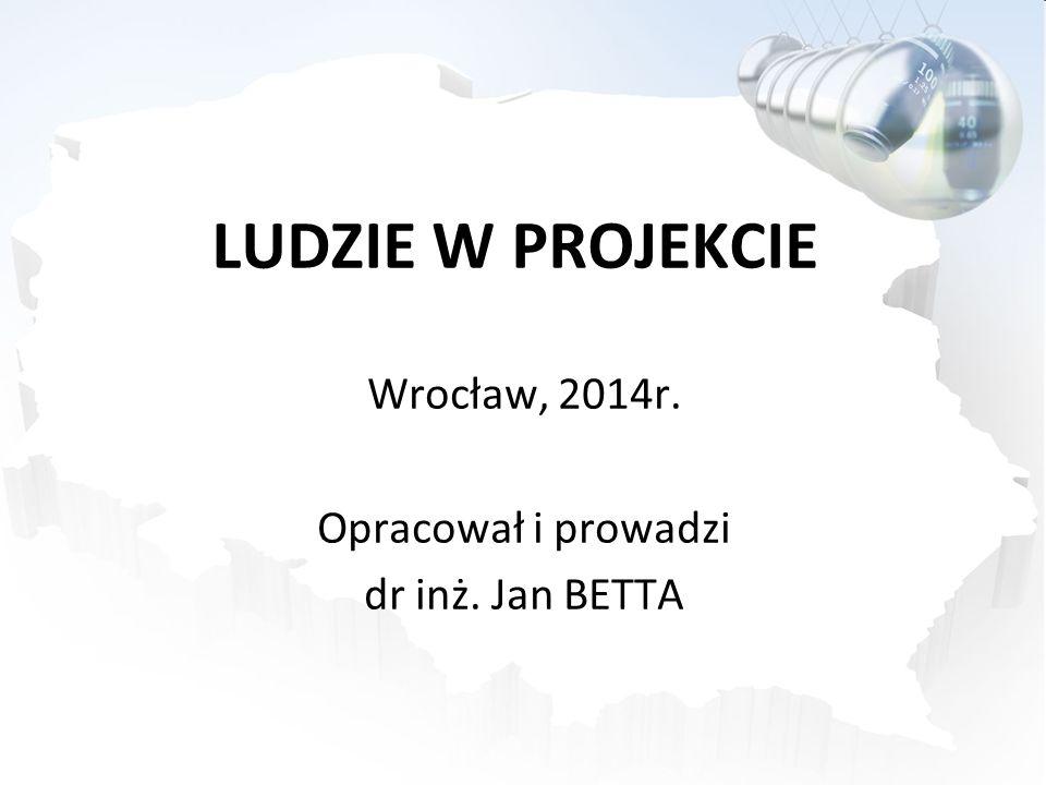 LUDZIE W PROJEKCIE Wrocław, 2014r. Opracował i prowadzi