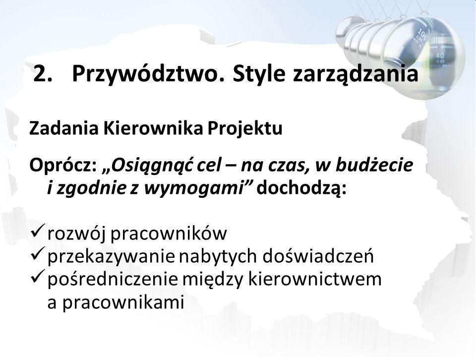 Przywództwo. Style zarządzania