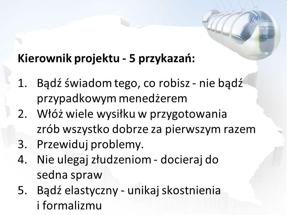Kierownik projektu - 5 przykazań: