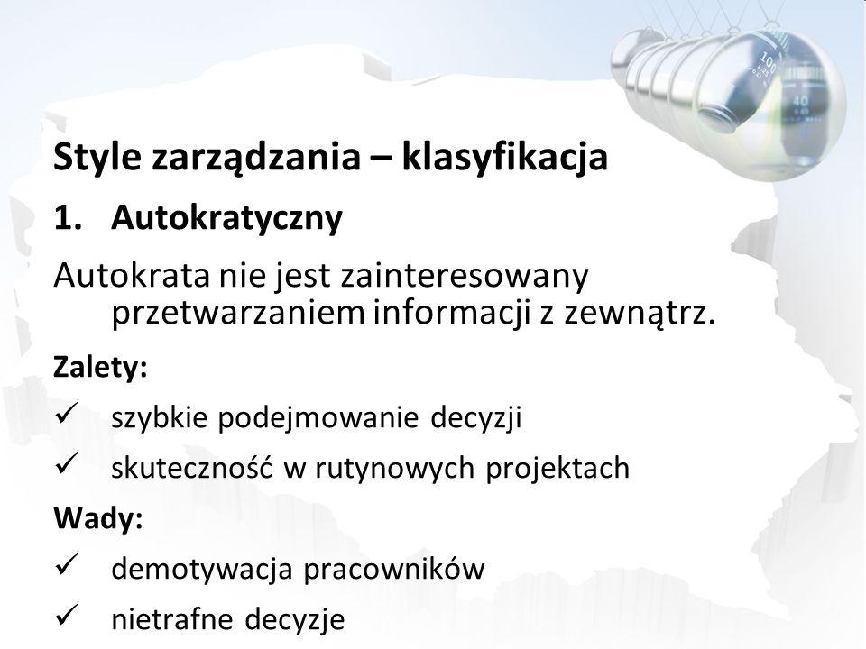 Style zarządzania – klasyfikacja