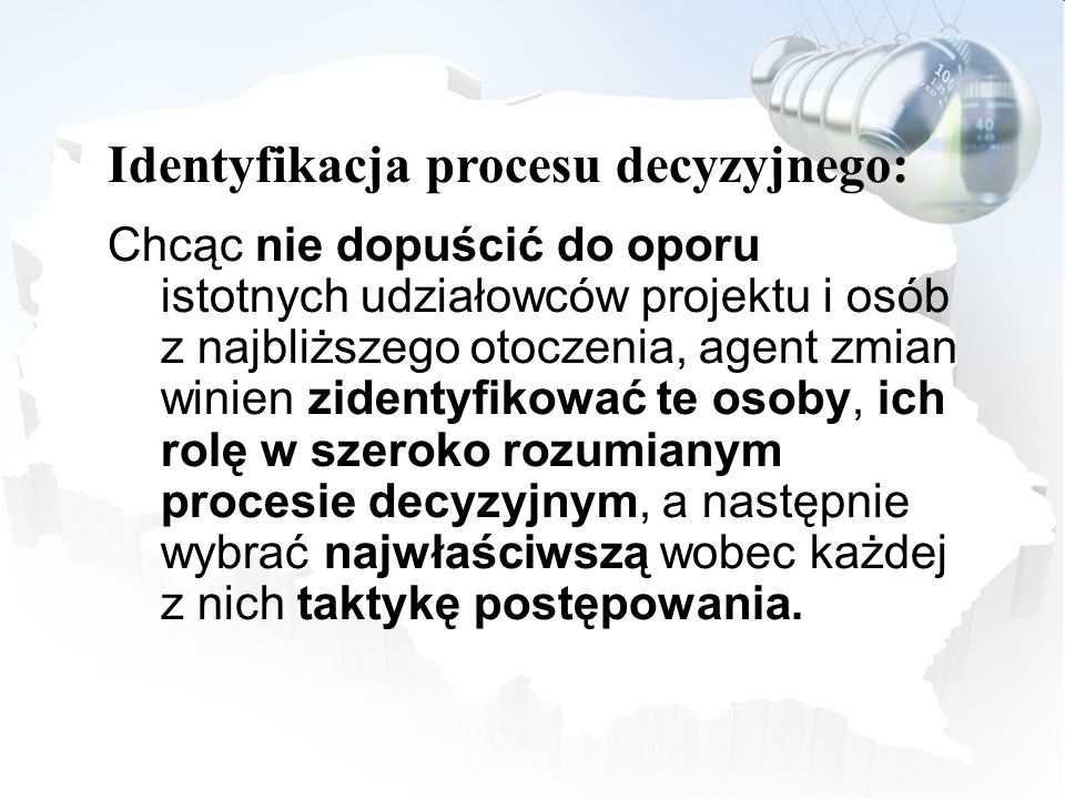 Identyfikacja procesu decyzyjnego: