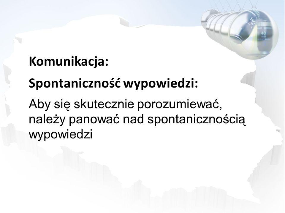 Spontaniczność wypowiedzi: