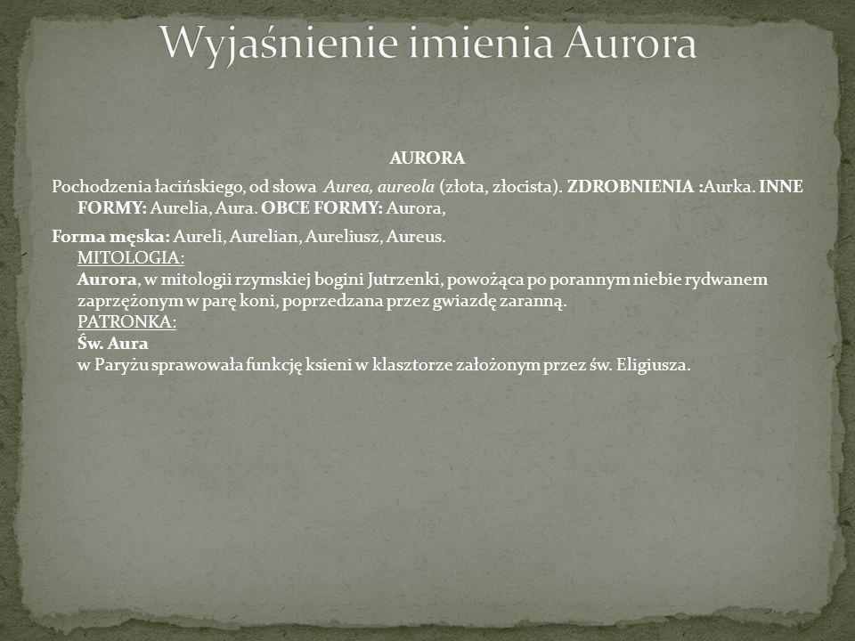 Wyjaśnienie imienia Aurora