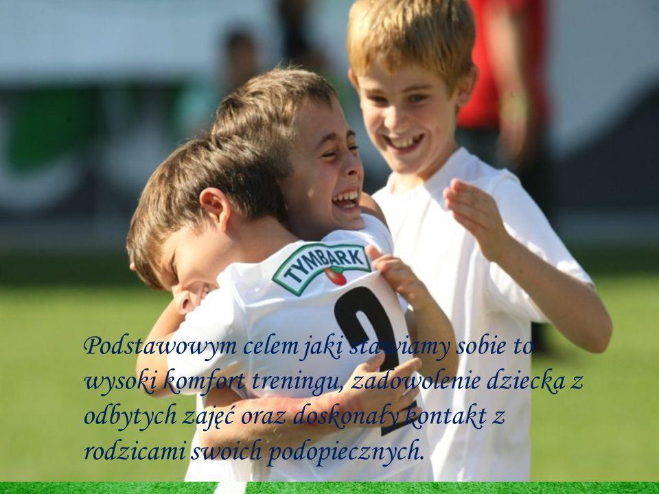 Podstawowym celem jaki stawiamy sobie to wysoki komfort treningu, zadowolenie dziecka z odbytych zajęć oraz doskonały kontakt z rodzicami swoich podopiecznych.
