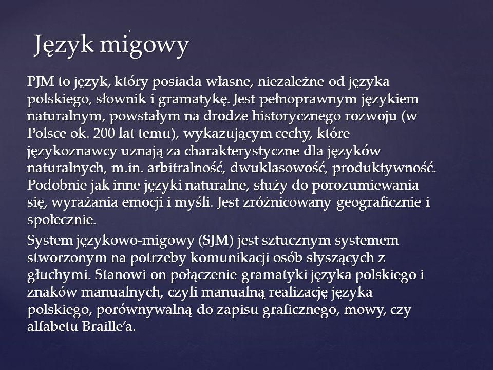 Język migowy .