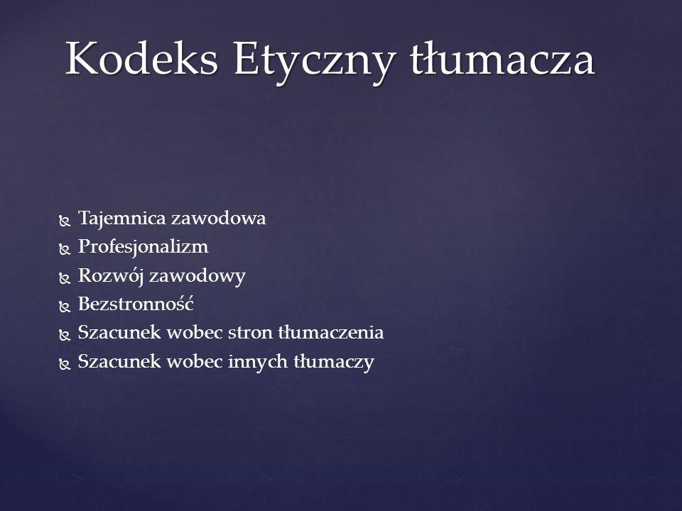 Kodeks Etyczny tłumacza