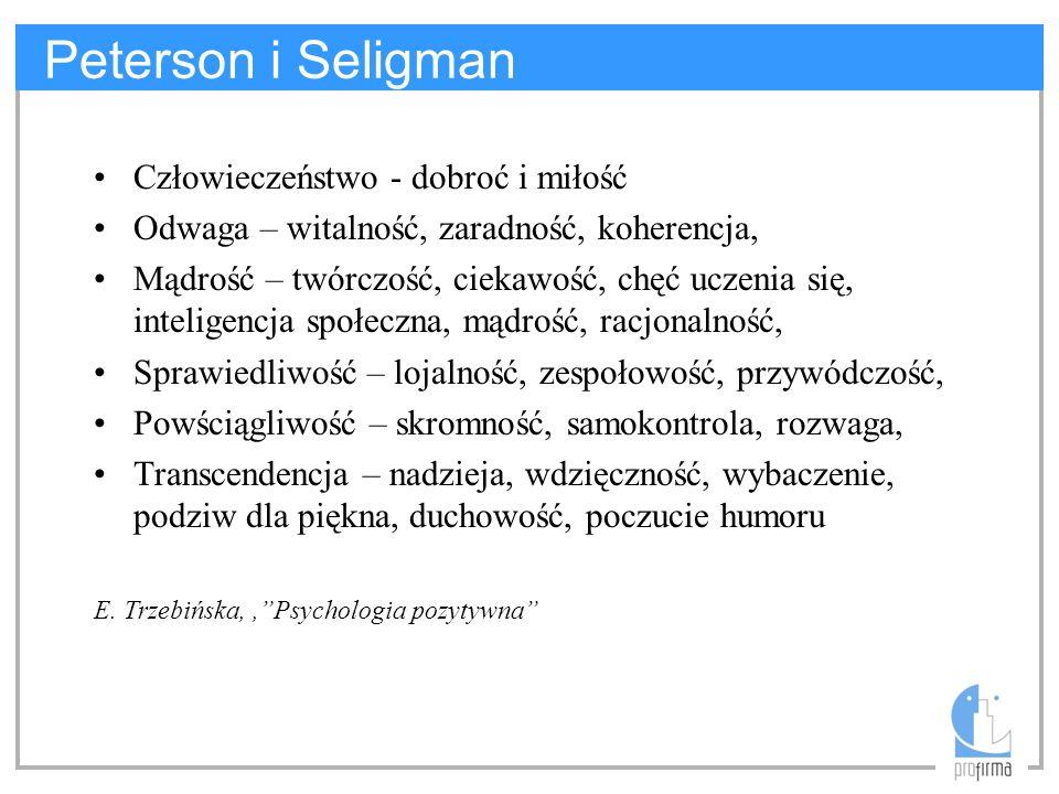 Peterson i Seligman Człowieczeństwo - dobroć i miłość