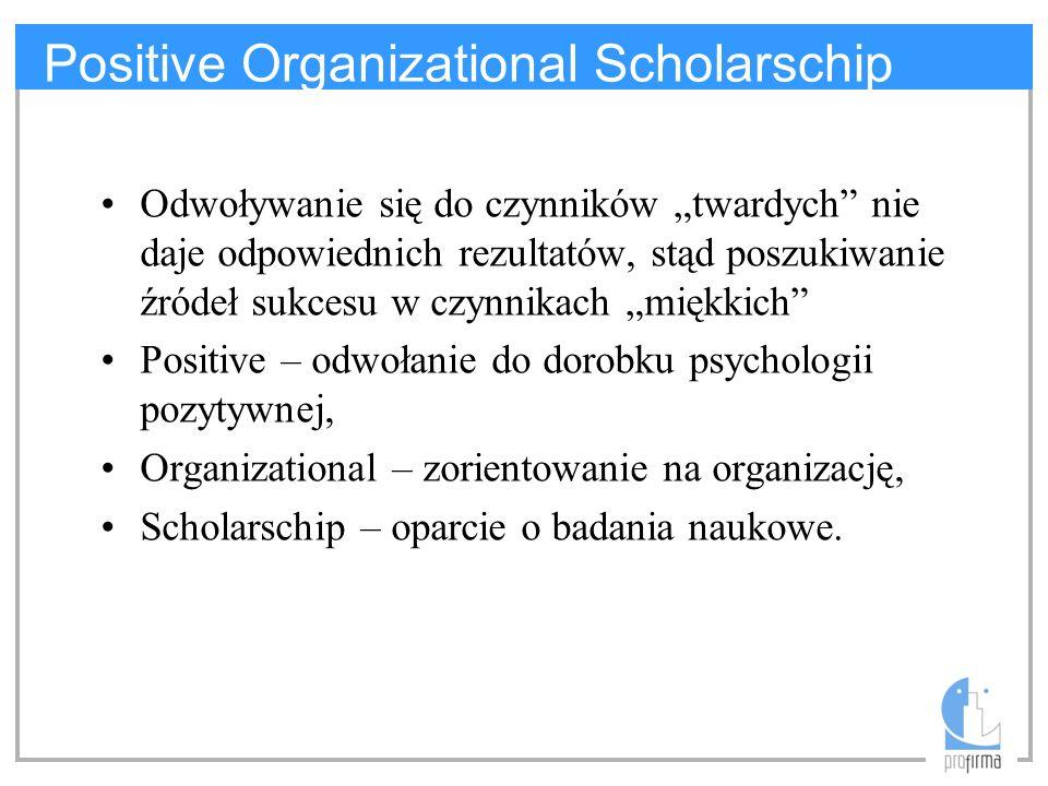 Positive Organizational Scholarschip