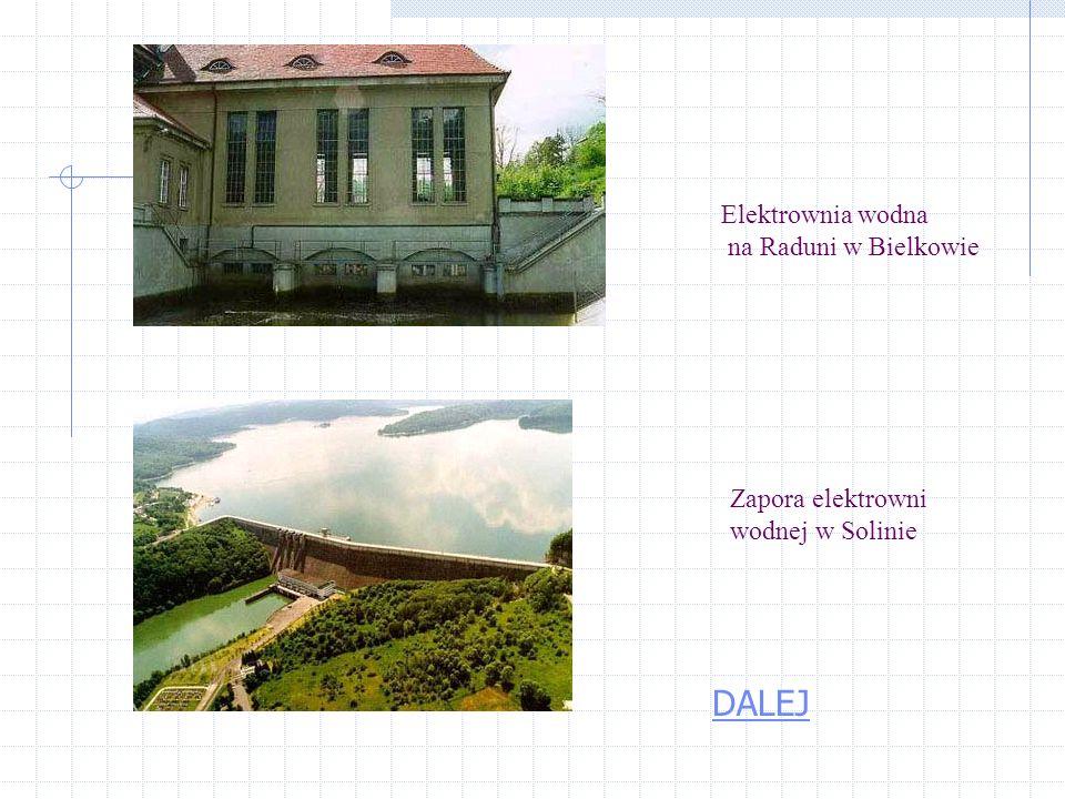 DALEJ Elektrownia wodna na Raduni w Bielkowie Zapora elektrowni