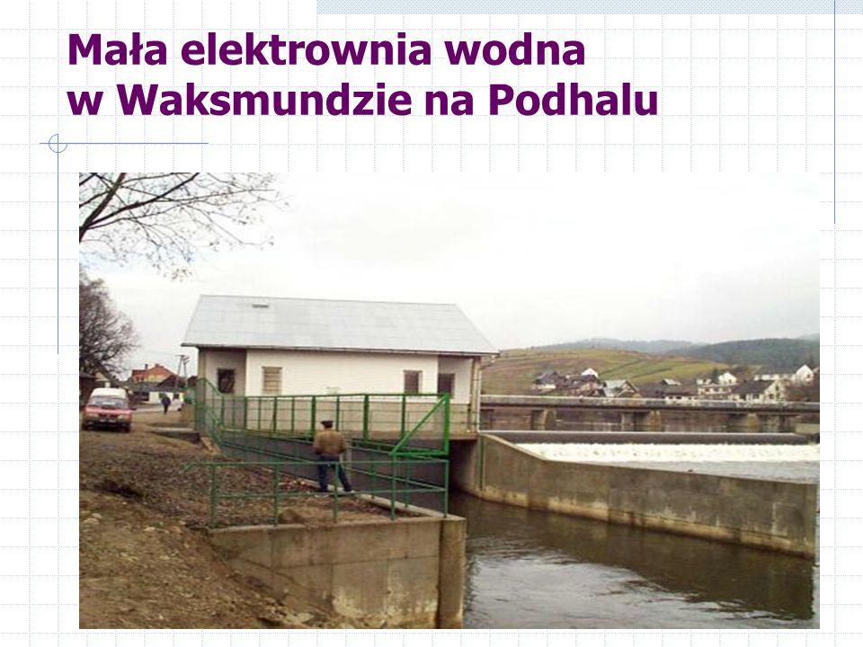 Mała elektrownia wodna w Waksmundzie na Podhalu