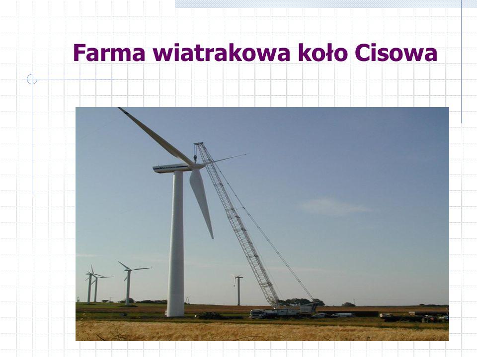Farma wiatrakowa koło Cisowa