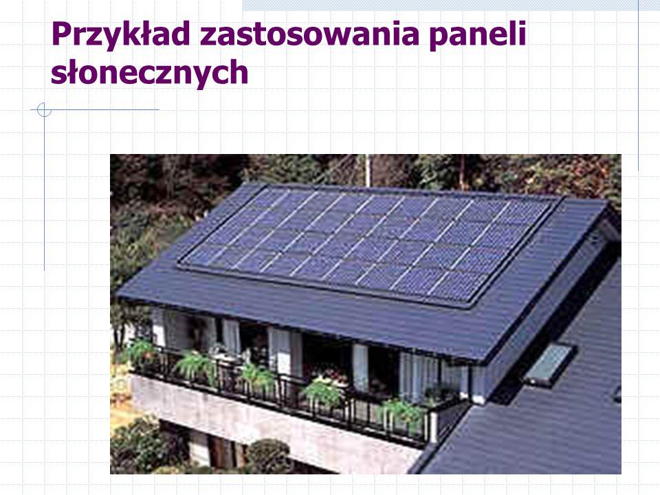 Przykład zastosowania paneli słonecznych