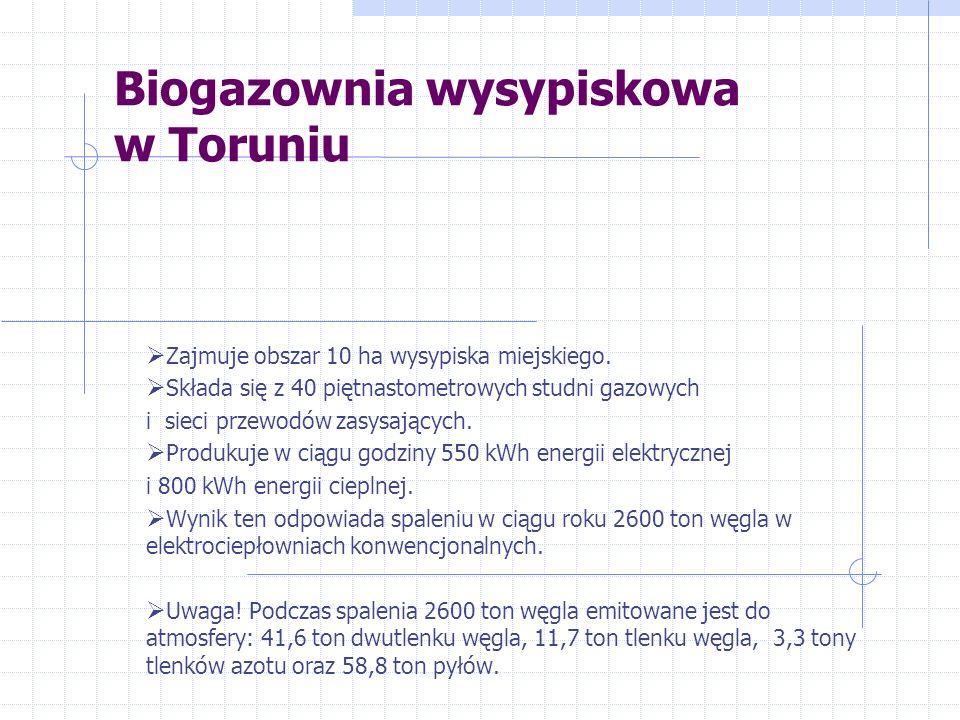 Biogazownia wysypiskowa w Toruniu