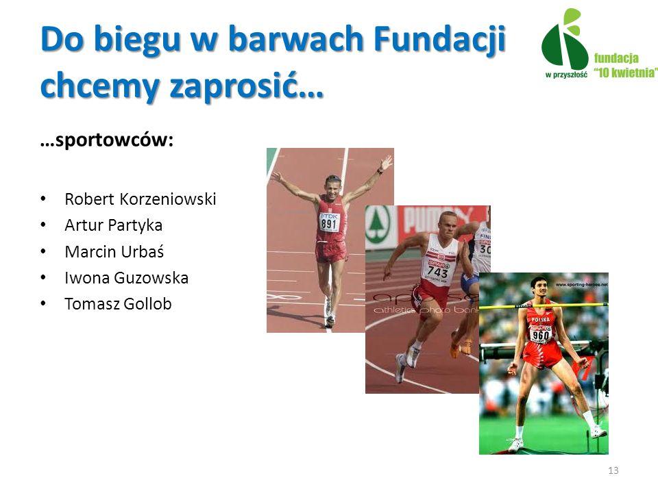 Do biegu w barwach Fundacji chcemy zaprosić…