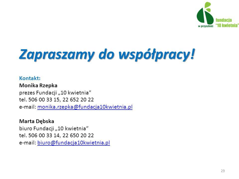 Zapraszamy do współpracy!
