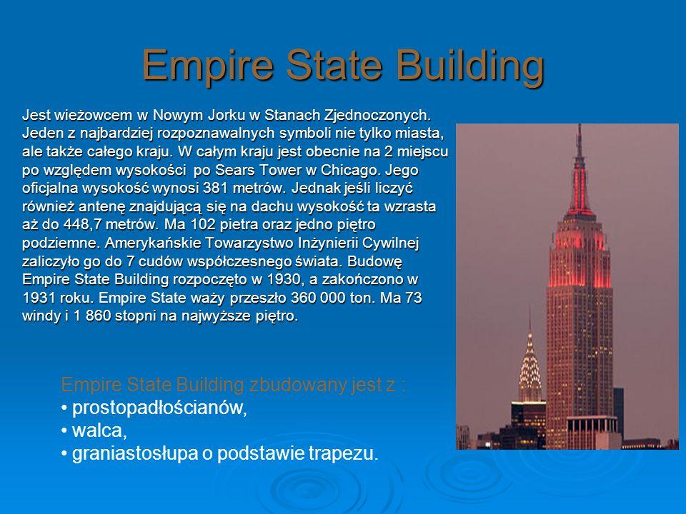 Empire State Building Empire State Building zbudowany jest z :