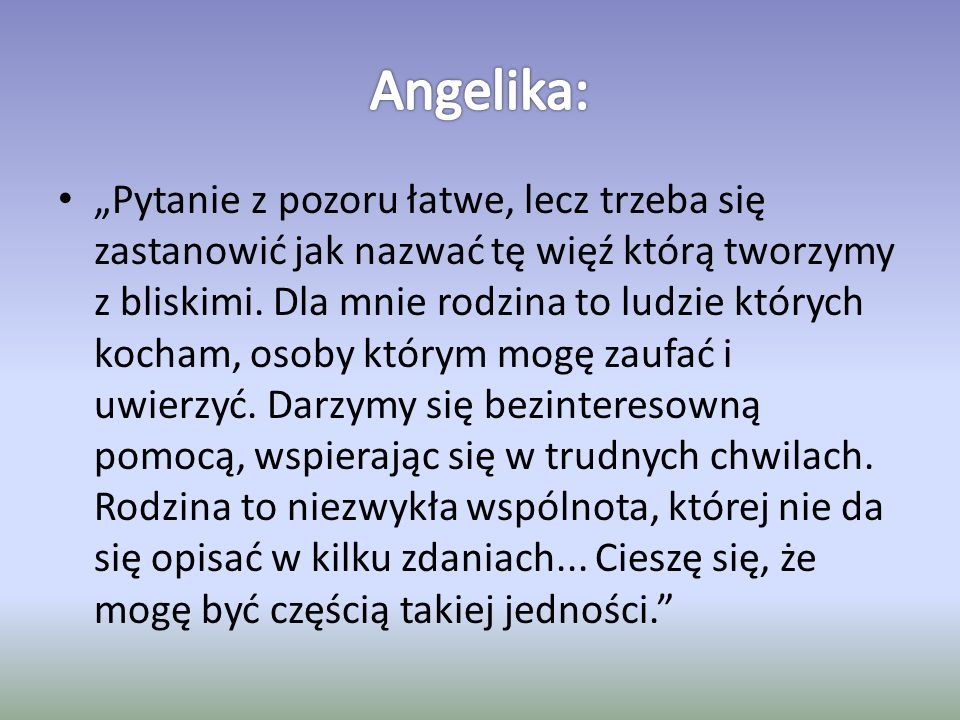 Angelika: