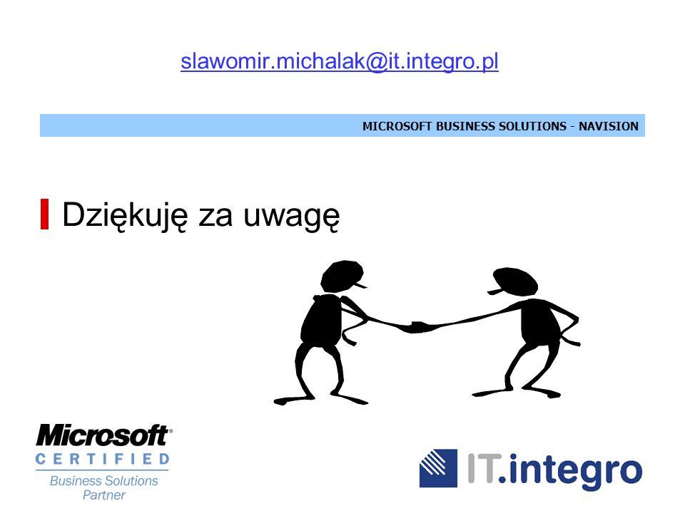 slawomir.michalak@it.integro.pl Dziękuję za uwagę