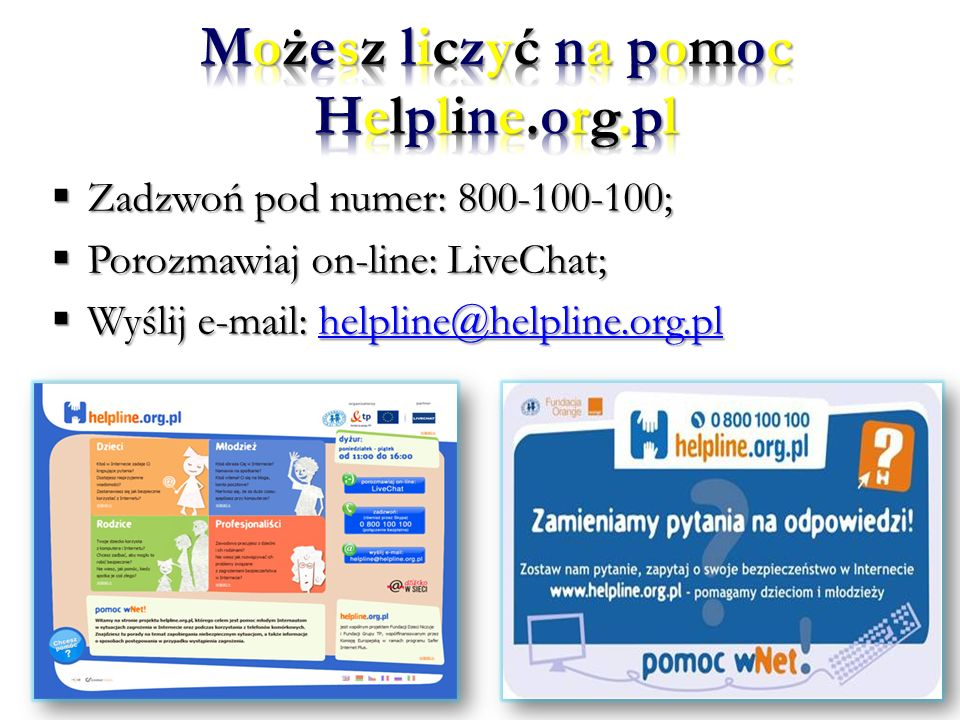 Możesz liczyć na pomoc Helpline.org.pl
