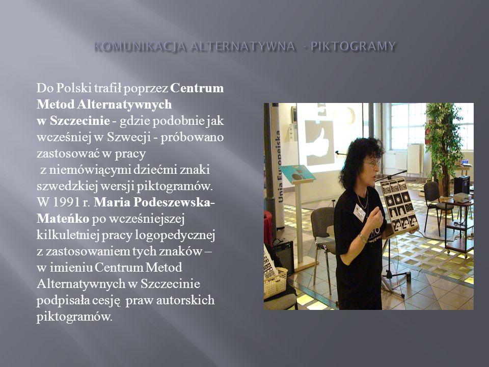 KOMUNIKACJA ALTERNATYWNA - PIKTOGRAMY
