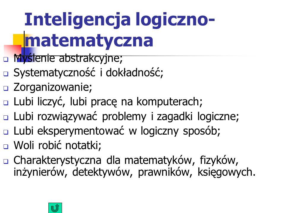 Inteligencja logiczno- matematyczna
