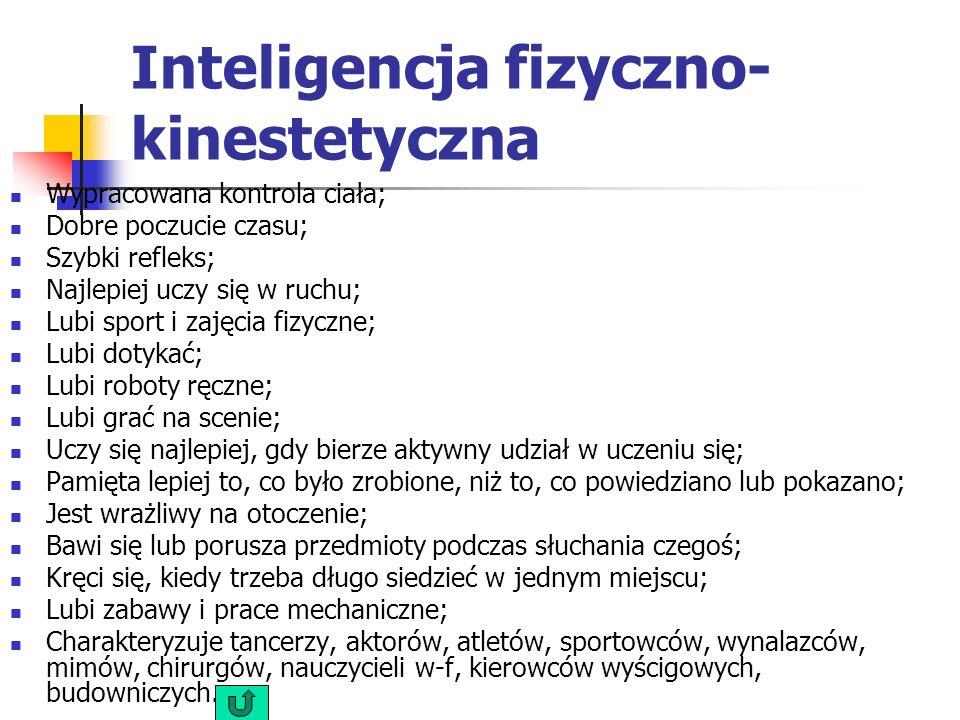 Inteligencja fizyczno- kinestetyczna