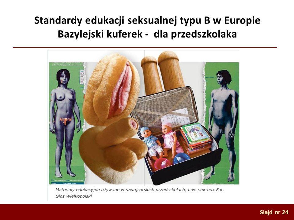 Standardy edukacji seksualnej typu B w Europie Bazylejski kuferek - dla przedszkolaka
