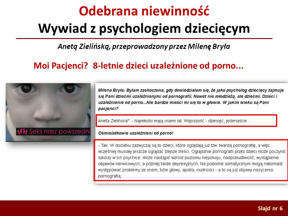 Odebrana niewinność Wywiad z psychologiem dziecięcym