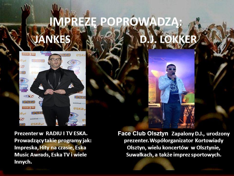 IMPREZĘ POPROWADZĄ: JANKES D.J. LOKKER Prezenter w RADIU I TV ESKA.
