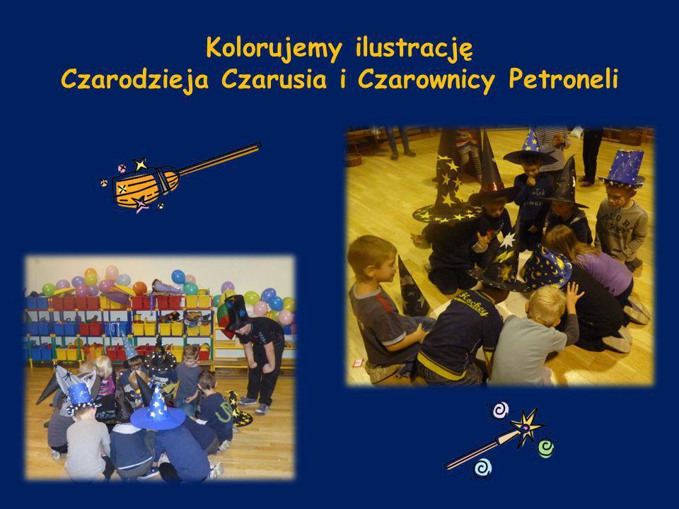 Kolorujemy ilustrację Czarodzieja Czarusia i Czarownicy Petroneli