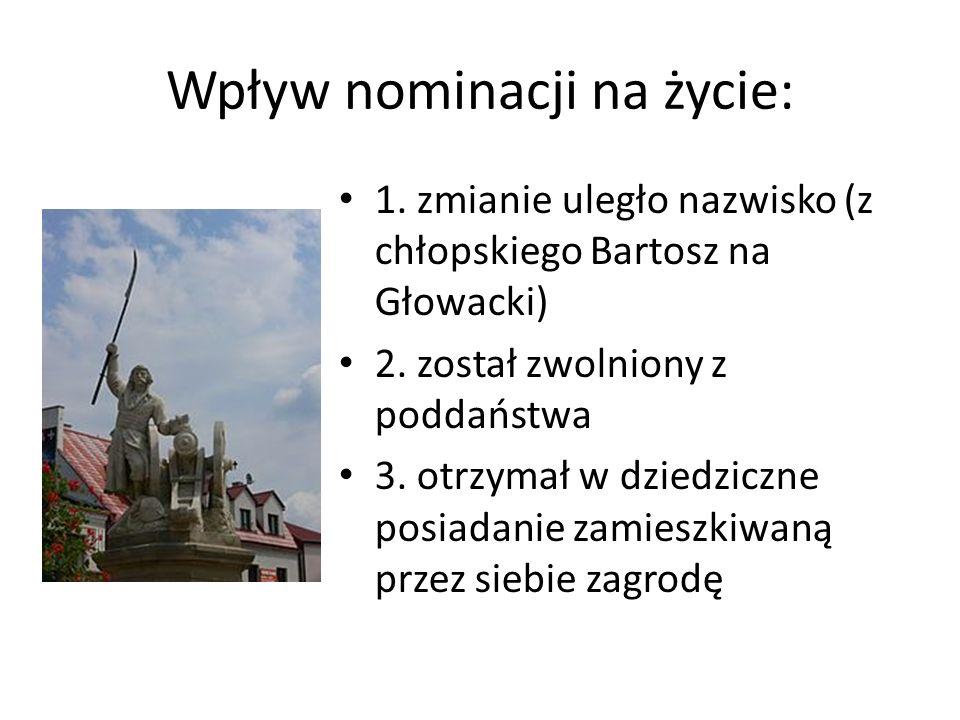 Wpływ nominacji na życie:
