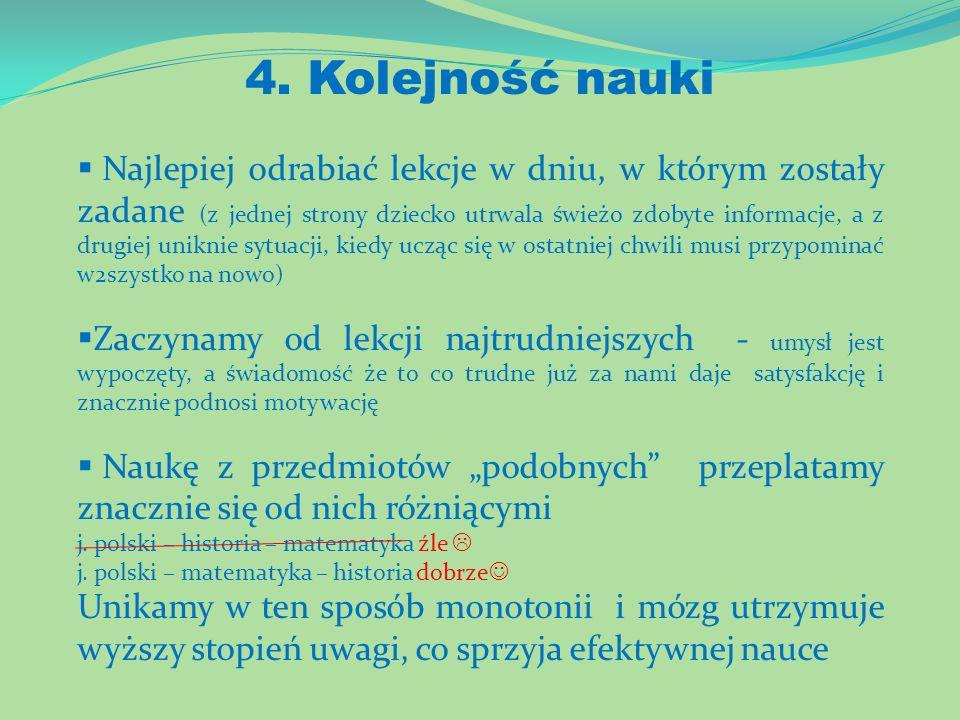 4. Kolejność nauki